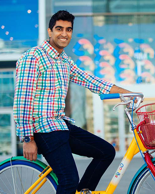 Al-Rahim Merali '13, a psychology graduate, now is a UX researcher at Google in Cuppertino, California.